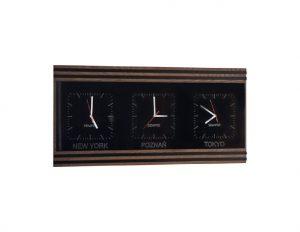 Часы тройные горизонтальные