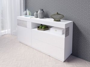 Helvetia silke bialy commode 47